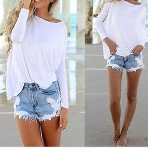 Piko white long sleeved top